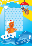 Teddy bears for a little baby boy Royalty Free Stock Photo