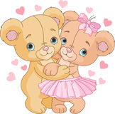 Teddy bears in love Stock Photo