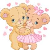 Teddy bears in love stock illustration