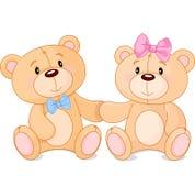 Teddy bears in love royalty free illustration