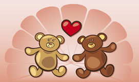 Teddy bears in love Stock Photography