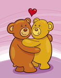 Teddy Bears in Love Royalty Free Stock Images