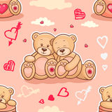 Teddy bears in love seamless  Royalty Free Stock Photography