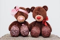 Teddy bears in love Stock Image