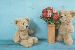 Teddy bears love Stock Photos