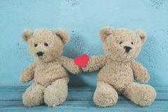 Teddy bears love Stock Image