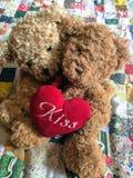 Teddy Bears In Love - Valentine& x27; s de dag draagt stock afbeeldingen