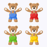 Teddy Bears with Pants Royalty Free Stock Photo