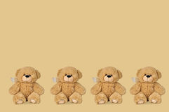 Teddy bears with patches Royalty Free Stock Images