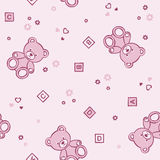 Teddy bears seamless background. Royalty Free Stock Photo