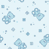 Teddy bears seamless background. Royalty Free Stock Images