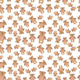 Teddy bears seamless background. Vector illustration Royalty Free Stock Photo