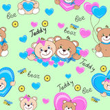 Teddy bears seamless pattern stock photos