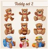 Teddy bears set. Part 2. Cartoon vector illustration royalty free illustration
