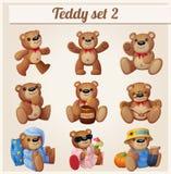 Teddy bears set. Part 2. Cartoon vector illustration Stock Image