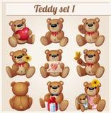 Teddy bears set. Part 1. Cartoon vector illustration Royalty Free Stock Images