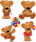 Teddy bears, set. Vector. Stock Photo