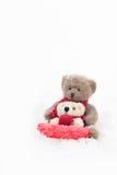 Teddy Bears Sledding Royalty Free Stock Images