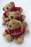 Teddy Bears in the Snow Royalty Free Stock Images
