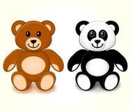 Teddy Bears su fondo bianco Immagine Stock