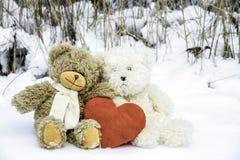 Teddy Bears sul San Valentino Immagine Stock