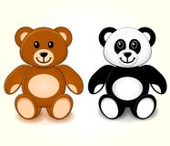 Teddy Bears sur le fond blanc Image stock