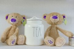 Teddy bears and tea Royalty Free Stock Photography
