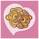 Teddy bears Valentine Royalty Free Stock Photos