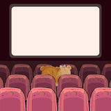 Teddy bears are watching a movie. Vector illustrations of teddy bears are watching a movie Stock Image
