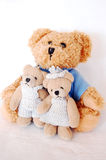 Teddy-beer familie Stock Foto's