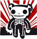 teddy in bones Stock Photography