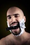 Teddy boy is shaving Royalty Free Stock Photography