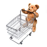 Teddy and Cart royalty free stock photo