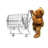 Teddy and Cart Stock Photo