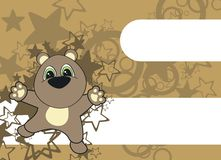 Teddy  cartoon background Royalty Free Stock Images