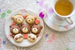 Teddy Cookies Stock Images