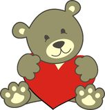 Teddy cor. Teddy bear in vector format easy to edit stock illustration