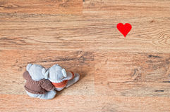 Teddy couple hugging in love Royalty Free Stock Photo