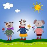 Teddy, cow and koala Stock Photo