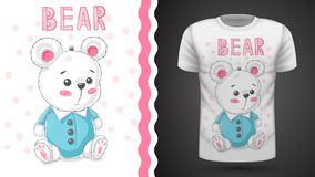 Teddy cute bear - idea for print t-shirt vector illustration