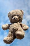 Teddy in de lucht stock afbeelding