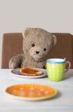 Teddy in de ochtend stock afbeeldingen
