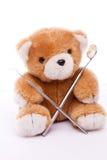 Teddy with Dental equipment. A Teddy with Dental equipment, isolated Stock Photos