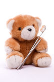 Teddy with Dental equipment Royalty Free Stock Image