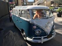 Teddy die VW drijven Stock Fotografie