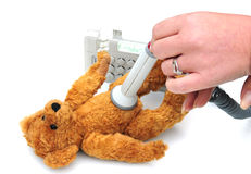 Teddy at the doctors Royalty Free Stock Photography