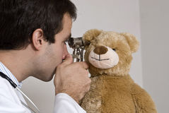 Teddy at the doctors Royalty Free Stock Images