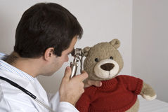 Teddy at the doctors Stock Image