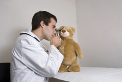 Teddy at the doctors Stock Photos