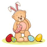 Teddy with easter egg Royalty Free Stock Images